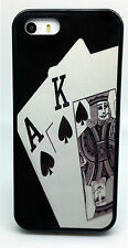 TEXAS HOLDEM POKER ACE KING OF SPADES CARDS CASE FOR iPHONE 4 4S 5C 5S 6 6 PLUS