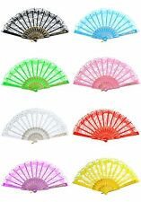 1x Chinese Wing Chun Style Dancing Fun Folding Lace Hand Fan Wedding, Party,23cm
