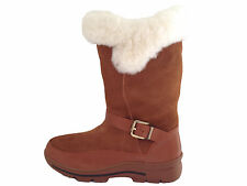 Fashion Style Genuine Leather Sheepskin Lady UGG Boots Chestnut Colour