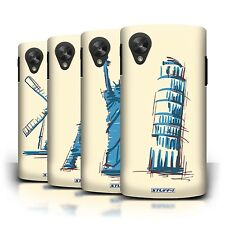 STUFF4 Back Case/Cover/Skin for LG Google Nexus 5/D821/Landmarks