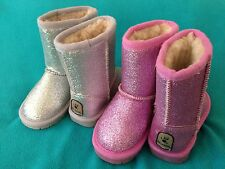 Girls Toddler Bearpaw Boots Cheri Pink Silver sparkles NEW  size 7 bear paw