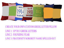 """14"""" GREEK LETTER  HAND CRAFTED PILLOW Alpha, Beta, Omega, Kappa, Phi, Psi, Sigma"""