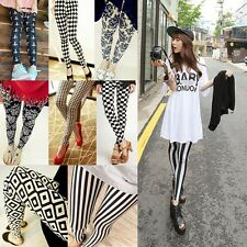 Sexy Women Ladies Skinny Print Leggings Stretchy Jeggings Pencil Tights Pants A