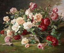 Still Life flower Roses HD Print Oil painting Picture on canvas L020