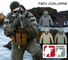 Men Outdoor Hunting Waterproof Coats Jacket Army Coat TAD style Softshell Hoodie