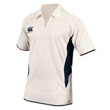 Canterbury Cream / Navy Pro Short Sleeved Cricket Shirt - only M & 2XL left