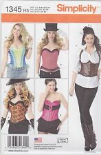 Simplicity Sewing Pattern 1345 Misses' Corsets Ruffled Shrug Costume New UNCUT