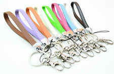 Leather Wristlet Signature LANYARDs with Key Chain, Key fob for Key / ID badge