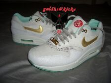 2014 Nike Air Max 1 YOTH QS Year of the Horse suede jade Gold 649458-001 Wmns