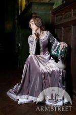 Medieval Costume , Lady Rowena Exclusive Velvet Embroidered Medieval Dress