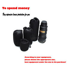 4PC Camera Lens Protector Pouch Case Insert Bag Cover XL/L/M/S Canon Nikon DSLR