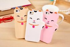NEW!3D Cute Kate Spade Smile Cat Silicone Rubber Soft Case Cover For iPhone 5 5s