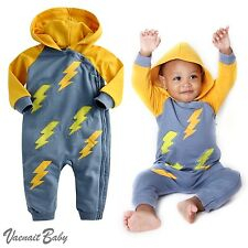 """NWT Vaenait Baby 6-24M Infant Hooded One-pieces Romper Jumpsuit""""Hoodie Thunder"""""""