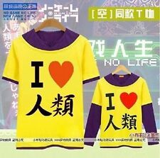 NO GAME NO LIFE Cosplay Sora Tee T-Shirt Long sleeved S/M/L/XL/XXL  P.02