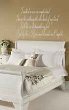 SOMEWHERE ONLY WE KNOW SONG LYRICS- KEANE- LILY ALLEN  - WALL STICKER