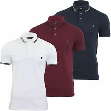 Mens Pique Polo Shirt FCUK/ French Connection Twin Tipped Collar T Shirt