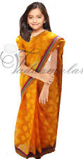 Ready to wear saree Girls Costumes Bollywood Pre Stitched sari blouse set NEW