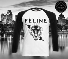 Feline Meow Long Sleeve Top / Hipster Cat Tumblr Quote Celine Blogger Dope Fresh