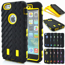 Dual Layer Armor Tire Heavy Duty Soft Tough Combo Cases Cover For Apple iPhone