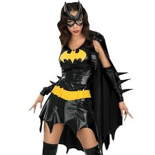 Adult Superhero Batgirl Costume Batwoman Fancy Dress Super Hero Party Outfit