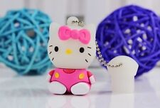 3D Hello Kitty Molded USB 2.0 Flash Drive Sitdown 8GB-32GB WITH gift box PINK