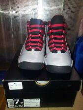 NEW GIRLS AIR JORDAN 10 RETRO GS 487211-009 WOLF GREY/BLACK-LEGION RED SZ 4.5-7Y