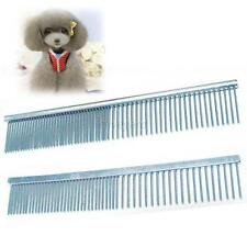 Cute Pet Dog Cat Stainless Steel Comb Long Hair Shedding Grooming Flea Comb New