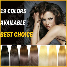 Clip In Remy 100% Real Human Hair Extensions DIY Full Head 8p Choose Color