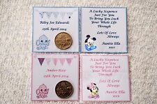 PERSONALISED LUCKY SIXPENCE FOR BABY GIRL / BOY LOVELY KEEPSAKE GIFT