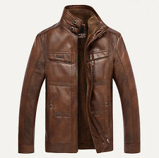 Men's winter thickening warm leather jackets man thick fur coats Male clothing