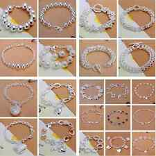 Wholesale Clearance fashion Sterling silver filled bracelet bangle 50 style