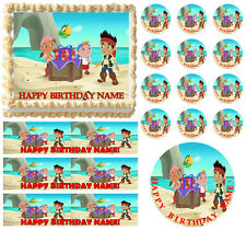 Jake and the Neverland Pirates Party on Beach Edible Cake Topper Imag-All Sizes!