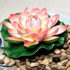3 X Fake Artificial Lotus Floating Water Lily Flower Plastic Plant Office Decor