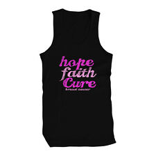 Hope Faith Cure Breast Cancer Awareness Think Pink Komen Limited Mens Tank Top