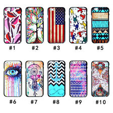 Fashion Painted Colourful Pattern Hard Back Case+Screen Protector For iPhone 6