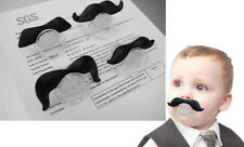 Cute Black Mustache Pacifiers Dummy Baby Teether Pacy Orthodontic Nipple   DICA