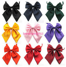 Wholesale Womens Girls Party Banquet Solid Color Adjustable Bow Tie Necktie T005