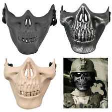 Tactical Military Skull Skeleton Half Face Mask Hunting Costume Party Halloween
