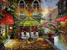 French town of Annecy Landscape HD Print Oil painting Picture on canvas L081