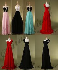 Cheap Long Wedding Party Gowns One Shoulder Handmade Flowers Girls Prom Dresses