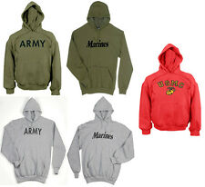 Rothco Military Physical Training Pullover Hooded Sweatshirt Army USMC Hoodie