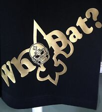 BLACK NEW ORLEANS SAINTS T-SHIRT - UP TO 10XL AVAIL WHO DAT DEM SAY!