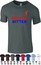 LFC Funny T-Shirt: Mighty Red Bitter Blue Tee Shirt 34 Colours Small - 2XL