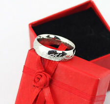 Size 6-12 COOL LOTR Band Ring Silvery Titanium Wedding Width 6mm HI-Q Gift