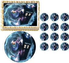 Doctor Who TARDIS Vortex Edible Cake Topper Frosting Sheet Image - All Sizes!
