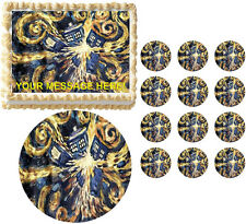 Doctor Who TARDIS Exploding Party Edible Cake Topper Frosting Sheet - All Sizes!