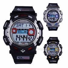 2014 Mens Boys Electronic Digital 100M Waterproof Pasnew Alarm Sport Watch Gift