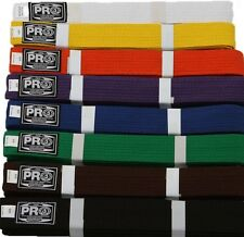 Martial Arts Belts Karate TaeKwonDo Judo   All colors.  NEW. Pro Boxing Supplies