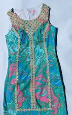 NWT Lilly Pulitzer MacFarlane Shift Dress Multi Lilly Lounge Small 0 2 4 6 8 14