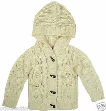 BN* EX-CHAIN STORE*BOYS ARAN CABLE KNITTED LONG SLEEVE HOODED CARDIGAN(12m-7yrs)